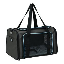 X-ZONE PET Airline Approved Pet Carriers,Soft Sided collapsible Pet travel Carrier for medium pu ...
