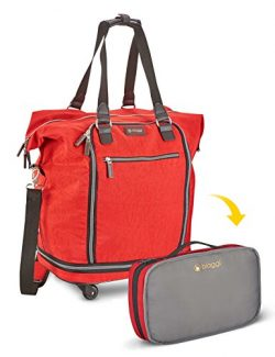 Zipsak 20″ Micro-Fold Spinner Fashion Tote (Red)