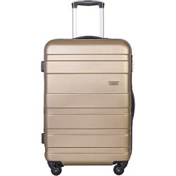 Merax Aphro 20inch Carry On Luggage Lightweight ABS Spinner Suitcase (Gold)