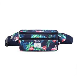 521s Fashion Waist Bag Cute Fanny Pack | 8.0″x2.5″x4.3″ | Flamingoes