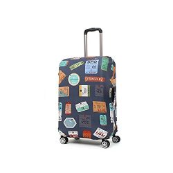 Rainproof Elastic Luggage Protective Cover Suitcase Protector Carry-on and Checked-in Size (Smal ...