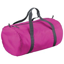 BagBase Packaway Barrel Bag / Duffle Water Resistant Travel Bag (32 Litres) (…