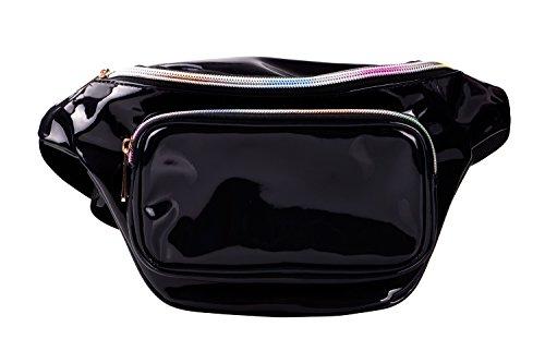 22a0bb3b2cee G-Fiend Women Waist Pack Holographic Shiny Fanny Pack Fashion Bum Bag (b.