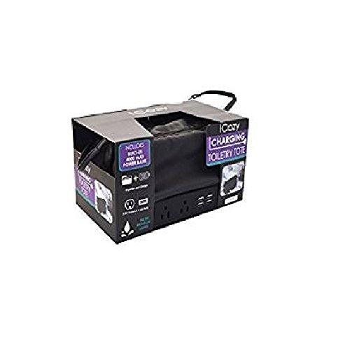 iCozy Toiletry Travel Charging Portable Tote – Black