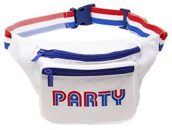 Funny Guy Mugs Red White Blue Party Premium USA Fanny Pack