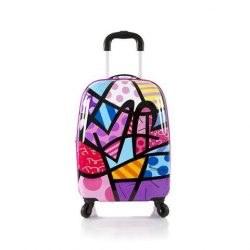 Heys America Unisex Britto Tween Spinner Purple Hearts Luggage