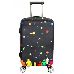 Fvstar Washable Luggage Cover Travel Suitcase Protective Bag Zipper Enclosure Suitcase Cover