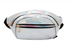 Fanny Packs for Women Holographic Waist Bag for Party Traveling Outdoor Sports