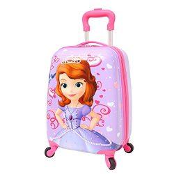 Kids' Luggage 18″ Upright Hardside Carry On Lightweight Spinner Luggage, Sofia