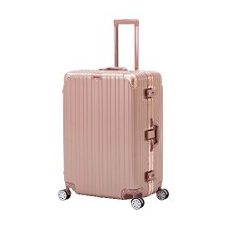ORKAN AL frame design hard shell luggage Carry OnSuitcase 4 wheels/light weight/TSA Lock (24 inc ...