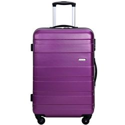 Merax Aphro 28inch Luggage Lightweight ABS Spinner Suitcase (Purple)
