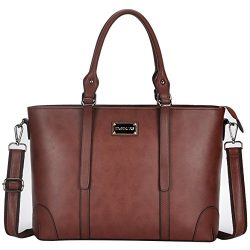 ZMSnow Laptop Bag,Spacious Tote Bag Fits Up to 15.6 Inch Laptop for Women Work Business School T ...
