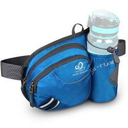 WATERFLY Hiking Waist Bag Can Hold iPhone6 Plus 5.5 inch Gear with Water Bottle Holder/Funny Run ...