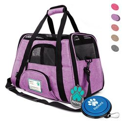 PetAmi Premium Airline Approved Soft-Sided Pet Travel Carrier by Ventilated, Comfortable Design  ...