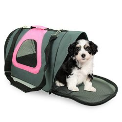 """Jespet Soft Sided Pet Carrier by, 18"""" Airline Approved Dog Carrier Travel Bag with Strap for Dog ..."""
