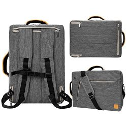17 inch Laptop Bag, Travel Briefcase with Organizer, Expandable Large 3-in-1 Hybrid Backpack, Wa ...