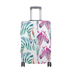 EVERUI Zebra Painting Travel Luggage Cover DIY Prints Protector Suitcase Baggage Fit 18-32 inch