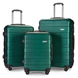 LEMOONE Luggage Set Spinner Hard Shell Suitcase Lightweight Carry On – 3 Piece (20″  ...