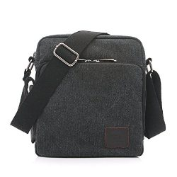 Mens small canvas bags, MiCoolker Multifunction Versatile Canvas Messenger Bag Handbag Crossbody ...