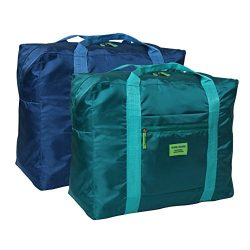 "Foldable Travel Duffel Bag 20"" Lightweight Waterproof Travel Luggage Bag(Pack of 2)"