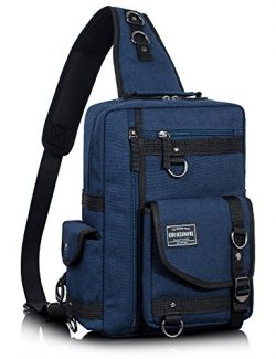 Leaper Messenger Bag Outdoor Cross Body Bag Sling Bag Shoulder Bag (Large, Dark Blue2)