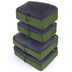 JETPAL Lightweight Travel Luggage Organizer Packing Cubes (Set of 4) – Green
