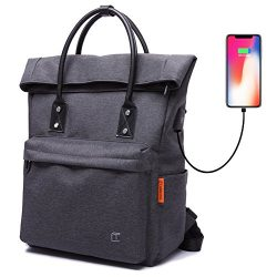 TC Tote Bag Backpack Convertible with USB Charging Lightweight Waterproof School Travel Daypack  ...