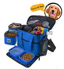 Dog Travel Bag – Week Away Tote For Med And Large Dogs – Includes Bag, 2 Lined Food  ...
