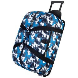 Wildkin Rolling Duffel Bag, Features Telescopic Handle and Moisture-Resistant Lining, Perfect fo ...