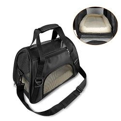 ONSON Pets Travel Carrier, Soft Sided Travel Bags for Small Dogs and Cats, Airline Approved Unde ...