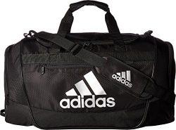 adidas Defender III Duffel Bag, Black/Silver, Medium