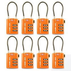 TSA Compatible Travel Luggage Locks, Inspection Indicator, Easy Read Dials- 1, 2 & 4 Pack (L ...