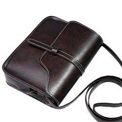 Sunyastor Handbags Vintage Satchel Cross Shoulder Bag PU Messenger Bag Women