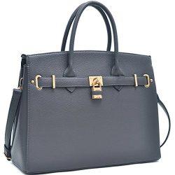 Dasein Women's Top Handle Satchel Handbags Designer Tote Purse Shoulder Bag Faux Leather P ...