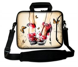 AUPET 9.7″ 10″ 10.1″ 10.2″ Inch Neoprene Laptop Bag with Extra Side Pock ...