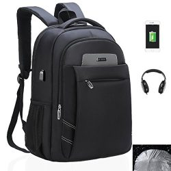 Laptop Backpack, USB Business Bags Water-resistent with Rain cover Computer Backpack, 15.6 Inch  ...