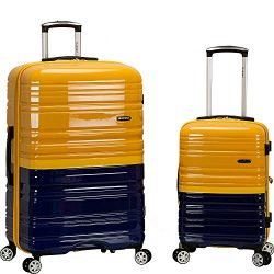 Rockland Luggage 20 Inch and 28 Inch 2 Piece Expandable Spinner Set, 2 Tone Navy