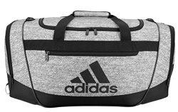 adidas Defender III Duffel Bag, Onix Jersey/Black, Medium