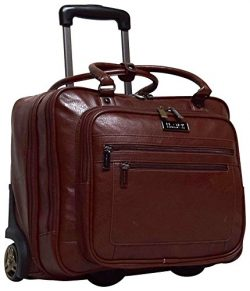 Kenneth Cole Reaction Wheel Fast Double Compartment Top Zip Wheeled Computer Case Overnighter (B ...