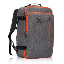 Hynes Eagle 38L Flight Approved Weekender Carry on Backpack, OrangeGrey