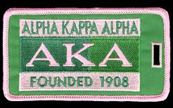 Alpha Kappa Alpha (AKA) Sorority Founded Embroidery Id/luggage Tag