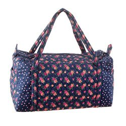 Darice 30043069 Floral Duffel Bag: Navy, 20 x 15 Inches, Navy Floral