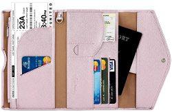 Travelambo Rfid Blocking Passport Holder Wallet & Travel Wallet Envelope 7 Colors (purplish  ...