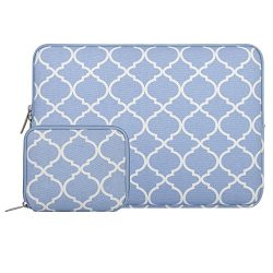 Mosiso Laptop Sleeve Bag for 14 Inch Notebook Computer Ultrabook, Quatrefoil Style Canvas Fabric ...