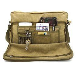 Messenger bags for Men, MiCoolker Multifunction Versatile Canvas Messenger Bag Handbag Crossbody ...
