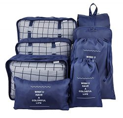 Packing Cubes Travel Organizer,8 – Set Waterproof Mesh Travel Luggage with Laundry Bag