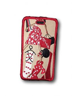 Delta Sigma Theta Leather Lady Diva Luggage Tag