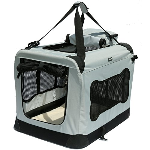 Soft Sided Pet Carrier With Steel Frame Dog House Style