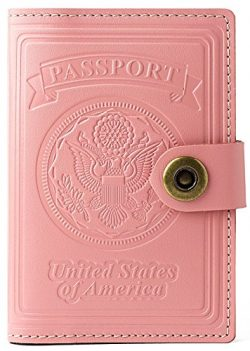 Villini – Leather RFID Blocking US Passport Holder Cover ID Card Wallet – Travel Cas ...
