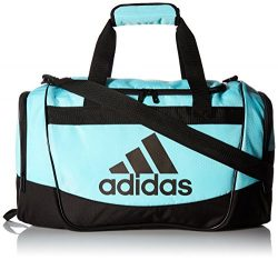 adidas Defender II Small Duffel Bag, Small, Clear Aqua/Black